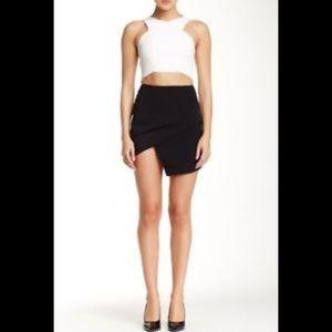 ASTR Asymmetrical Black Short Skirt
